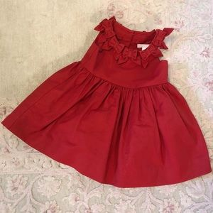 Beautiful red baby dress  perfect for Christmas